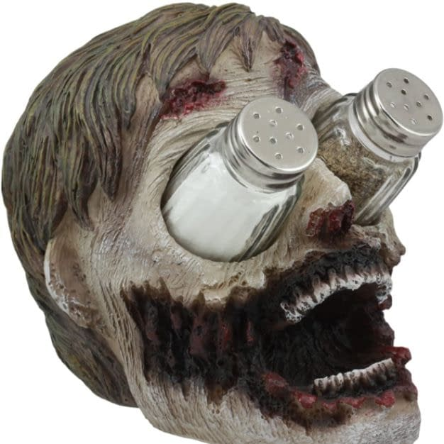 Walking Undead Zombie Salt and Pepper Shakers Holder